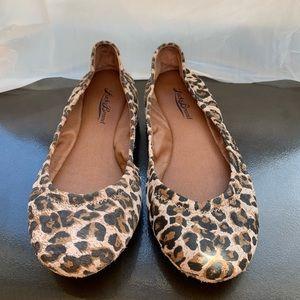 Lucky Brand Leopard Print Flats size 6